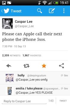 I see what you did there, and instead of an apple in the back we could have the 5SoS logo that lights up! :)