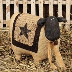 Small Wooly Sheep with Star -Primitive Country Rustic Stuffed Embroidered Decor Small Wooly Sheep with Star -Primitive Country Rustic Stuffed Embroidered Decor Primitive Sheep, Primitive Patterns, Primitive Homes, Primitive Folk Art, Primitive Crafts, Primitive Christmas, Christmas Crafts, Christmas Ornaments, Primitive Country