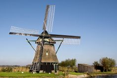 Polder mill Molen P, Oudesluis, the Netherlands.