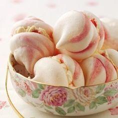 Pink Swirled Meringues
