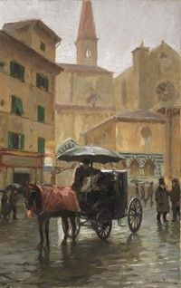 Fiaccheraio a Firenze. Danti, Case, Florence, Artists, Adventure, Painting, Impressionism, Painting Art, Paintings