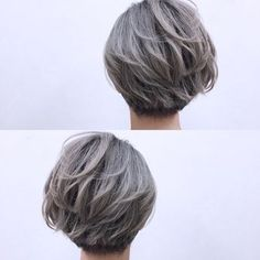 love this cut & color! Short Bob Hairstyles, Cool Hairstyles, Shot Hair Styles, Silver Grey Hair, Hair Arrange, Girl Short Hair, Cool Hair Color, Love Hair, Hair Pins