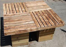 DIY Outdoor Pallet Patio Table | Pallet Furniture