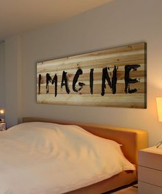 Look at this #zulilyfind! 'Imagine' Wood Wall Art by Marmont Hill #zulilyfinds