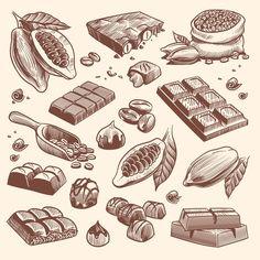 Rooster Illustration, Pattern Illustration, Chocolate Drawing, Drawn Fish, Tea Logo, Photo Libre, Chocolate Packaging, Logo Restaurant, Tattoo Ideas