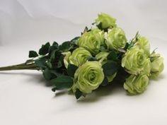 Pugét růží, umělá květinová dekorace, zelená