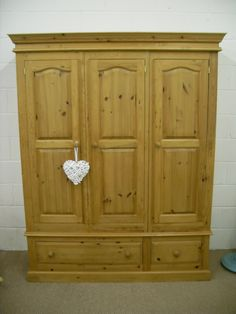 SOLID PINE TOP QUALITY HANDMADE TRIPLE WARDROBE 2 WITH DRAWERS -  W 151 - D 52 - H 200 CM - £375 http://www.drabtofabfurniture.co.uk/