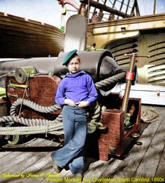 Powder Monkey, Charleston, SC, is listed (or ranked) 5 on the list 25 Colorized Photos So Vivid They& Change How You See the Civil War Colorized Historical Photos, Colorized History, American Civil War, American History, Captain American, American Photo, New Hampshire, History Magazine, War Photography