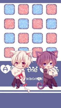 Mafumafu and Soraru Anime Chibi, Chibi Boy, Kawaii Chibi, Kawaii Art, Vocaloid, Cute Themes, Anime Hair, Pastel Goth, Cosplay