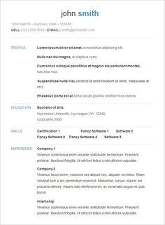 International Resume Format Free Download Resume Format