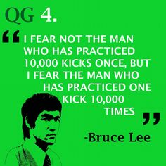 Being persistent makes you powerful, both physically and mentally #quote #brucelee