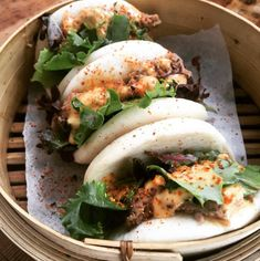 Kimchi, Bao, Snack, Mexican, Diet, Ethnic Recipes, Instagram, Mayonnaise, Dressings