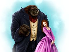Beauty and the Beast   - MyWonderBooks -  Books for Children - Kids Stories with Images and Audio in 6 Languages  kids can read every story in English - Arabic - French - Russian - German - Spanish - illustration