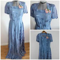 1940s silk dress, Vintage 40s dress women, 1940s purple gown, Wedding Dress, 1940s gown,Silk, Medium, 1940s dress,