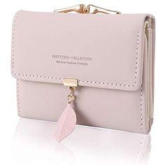 81cd2263fce71c Geldbörse Damen - Geldbeutel Damen Leder Brieftasche Portmonee Damen Leder  Elegant Süß Handtasche Portemonnaie Geldbeutel für