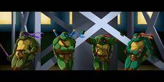 TMNT 2k3 Screencap Redraw - The Wait by Nimueth