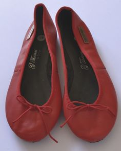 Beautiful leather ballet pumps Handmade with love from Cape Town. Made from genuine leather. Pumps, Heels, Cape Town, Peep Toe, Ballet, Red, Leather, Handmade, Beautiful