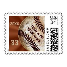 Customizable Vintage Baseball Postage Stamps with 3 Text Templates for YOUR Name, Text, Jersey Number or Monogram, Year or Delete. CLICK: http://www.zazzle.com/custom_vintage_baseball_stamps_3_text_templates-172049073605571860?rf=238012603407381242  See the cool matching post cards too and other personalized vintage baseball gifts HERE: http://www.Zazzle.com/YourSportsGifts* CALL for HELP or special orders: 239-949-9090