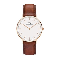 The Classic St Mawes (36mm) in Rose Gold by Daniel Wellington