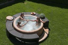 Soft tub hot tub backyard-ideas