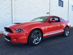Red 2012 Ford Mustang Shelby 2012 Red Shelby Supercharged, Only 500 Mi. 2012 Ford Mustang, Ford Mustang Shelby Gt500, My Dream Car, Dream Cars, Modern Muscle Cars, Gt 500, Yesterday And Today, Mustangs, Lineup