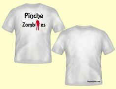 Men's White Zombies Tee. Pincheshirts.com