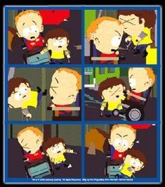 Amazon.com: South Park Cripple Fight Montage Sticker SS253: Toys & Games