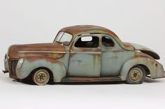 Revell 1:25 scale model 1940 Ford Coupe by John Tolcher. #automotive #rust