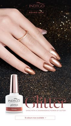 - Indigo Glitter Collection Midas – amber shade of gold showered with sparkles. Do not fight the gold fever, let it consume you! Mermaid Effect, Nail Lab, Gold Shower, Gel Polish Manicure, Indigo Nails, Nail Effects, Shades Of Gold, Sparkles, Nailart