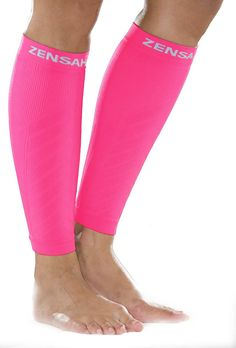 Zensah Neon Pink Compression Leg Sleeves - Zensah has developed the best compression leg sleeves using a special knitting process and fabric unique to their leg sleeves. - The Zensah compression leg s Compression Leg Sleeves, Calf Compression, K Tape, Namaste, 12 Hour Shifts, Just In Case, Just For You, Breathe, Shin Splints
