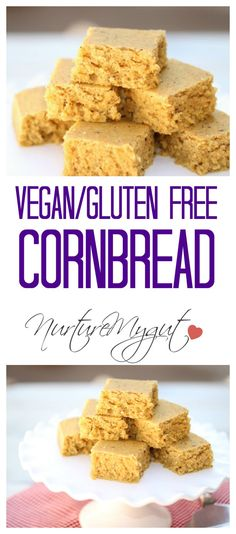 "Vegan Gluten Free Cornbread. This recipe uses a ""flax egg"" to bind ..."