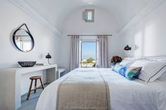 Each suite at the Santo Maris has a private veranda with views of the Aegean Sea. (Santorini)