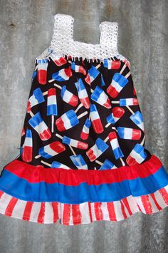 Fourth of July children's sundress with by CreatingFairytales, $30.00