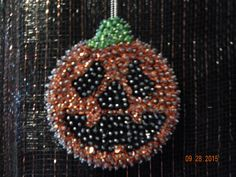 SALE:  Spooky Smiles sequin ornament by Sunrise Craft and Hobby by NanaJansXmasCrafts on Etsy
