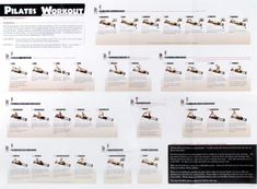 Pilates Chart Of Exercises Using Reformer Body Workout