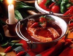 #fishsoup ( #halaszle )Hungarian Fish Soup (Halaszle)