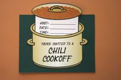 A bunch of great ideas for a chili cook-off