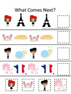 france activities for preschoolers themed numbers clip it cards preschool math 748