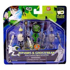 Amazon.com: Ben 10 (Ten) Alien Creation Chamber Mini Figure 2-Pack Ripjaws and Ghostfreak: Toys & Games