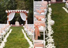 Classic Romantic Pink and White Washington Wedding