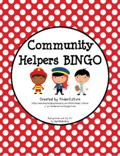Community Helper BINGO - Polka Dot Theme