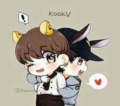 Page 3 Read (Maraton Vkook/KookV from the story ♡Fanarts e Imágenes Sin Censura de BTS♡ by (💜PurpleYou💜) with reads. Bts Chibi, Anime Chibi, Namjoon, Jungkook V, Taehyung, Taekook, Vkook Fanart, Bts Memes Hilarious, Bts Fans