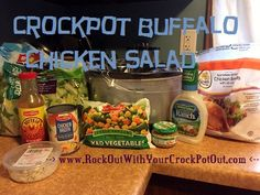 CrockPot Buffalo Chicken Salad! So easy and delicious and health! Check out www.RockOutWithYourCrockPotOut.com for more info!