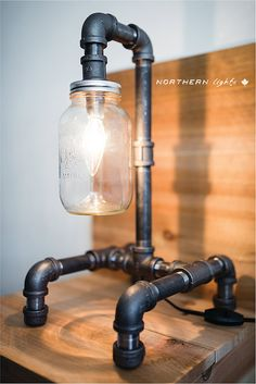 Handmade Iron Pipe Lamp Industrial Piping by NorthernLightsCanada, $143.99
