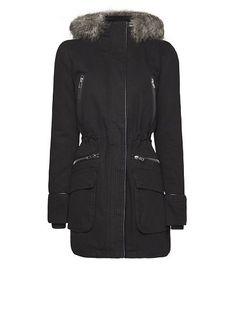 MANGO - Zips hood coat