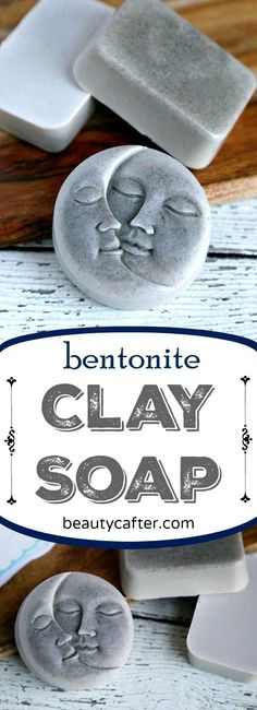 This Bentonite Clay Soap is great for the skin and has detoxification benefits as well. The simple melt and pour clay soap recipe is quite easy to make, even for someone who has never made soap before. I've got bentonite Diy Savon, Savon Soap, Argile Bentonite, Diy Cosmetic, Soap Making Supplies, Homemade Soap Recipes, Soap Making Recipes, Lotion Bars, Soap Molds