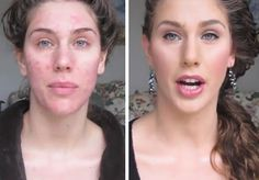 I have absolutely no interest in make-up and all that stuff, but I sat down for almost eleven minutes and watched her transformation.  Oh my God!  It's amazing.  I'll have to use her tips one day.