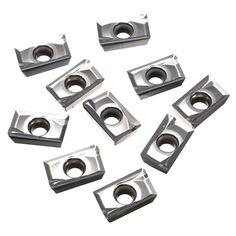 Plaquitas de metal duro usado para el cobre de aluminio APKT1604PDFR-MA3 H01 10pcs
