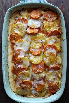 Pumpkin Scalloped Potatoes from @RecipeGirl {recipegirl.com}
