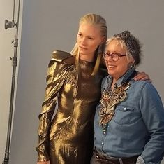 Beyond gorgeous...Lotte the model and Dori show fashion bloggers how to wear Dori pieces with swag... #doricsengeri #statementjewelry #tasselearrings #designerjewelry #photoshoot #ooak #ooaknecklace #luxuryjewelry #couturejewelry